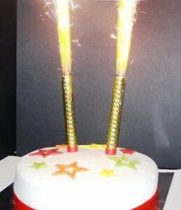 Marvelous 2 Pk Glitz Sparkling Birthday Party Fountain Cake Topper Candles Funny Birthday Cards Online Aboleapandamsfinfo