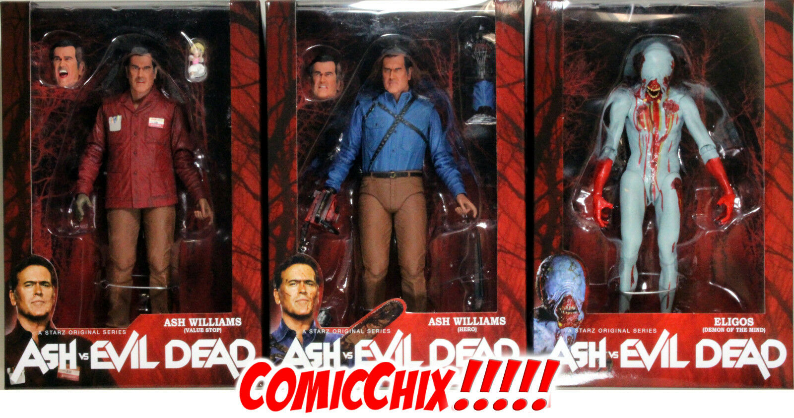 ASH vs. THE EVIL DEAD ACTION FIGURE SET - NECA