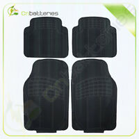 Foldable Car Floor Mats For Seat All Weather Rubber 4pc Fit Heavy Duty Black