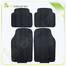 For 2015 thru 2017 Ford Mustang Parts Black Rubber Floor Mat Set 4-pc front+rear