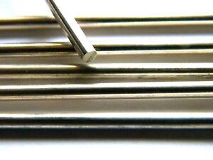 Barra de plata esterlina sólida de alambre 3.0mm X 100mm longitud recta completamente duro .925