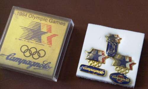 NOS Campagnolo 1984 Olympic Pin 3-piece set Los Angeles tie clip stockingstuffer