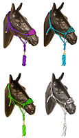 Bronc Nylon Horse Halter Lead Rope Cowboy Noseband Trail Rodeo Show Tack Western