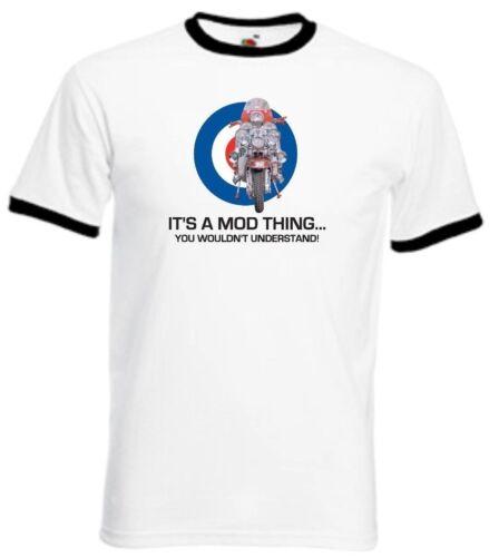 Homme Mode T-Shirt The Who Mods Quadrophenia Scooter Ace Visage Brighton 64 LAMBRETTA