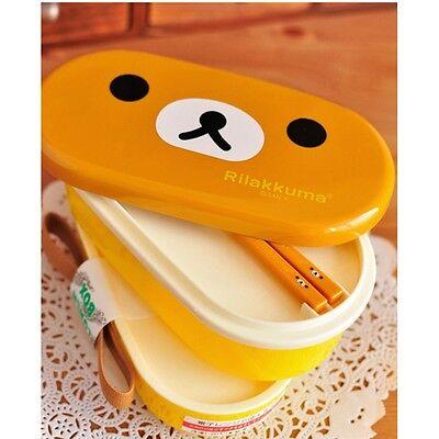 Microwave Rilakkuma Bento And Nostrils  Chickens Multilayer Children Lunch Box