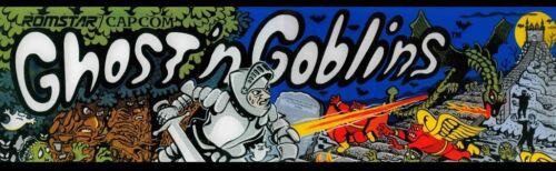 Ghosts'n Goblins Romstar Arcade Marquee 26″ x 8″