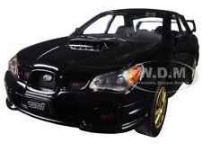 SUBARU IMPREZA WRX STi BLACK 1/24 DIECAST CAR MODEL BY MOTORMAX 73330