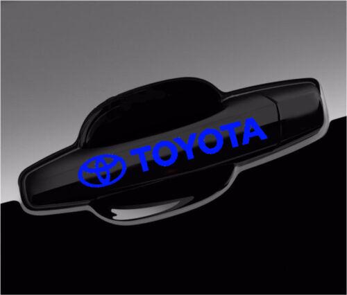 8pcs Toyota Decals For Wheels and Door Handle Vinyl Stickers Graphics Emblem
