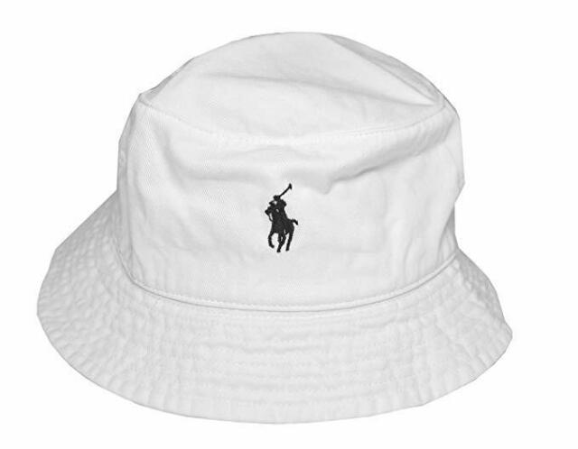 14a63bc4396f5 Ralph Lauren Men s Bucket Hat White black Pony 2day Delivery for ...
