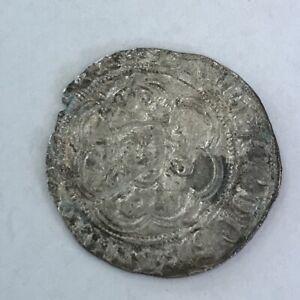 Antique King Henry VI 1422-61 / 1470-72 Silver Half Groat Coin 2cm