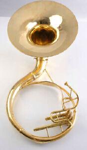 Zweiss-Sousafon-B-Sousaphon-Guggenmusik-in-voller-Messing-Fabrik-preis-Goldende