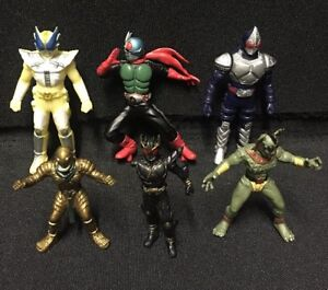 Details about I T A T Bandai Anime Masked Kamen Rider Mini Figures Mix Lot  Manga