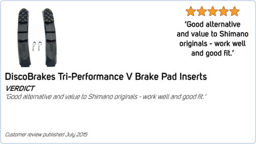 Red V Brake Pads for Shimano SRAM Avid Tektro Length 72mm 4 Pairs 8 Pads