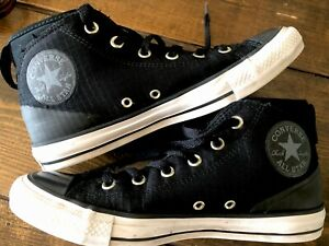 Black-Converse-All-Star-Chuck-Taylor-Sneakers-Syde-Street-Mid-Sz-7-Men-9-Womens