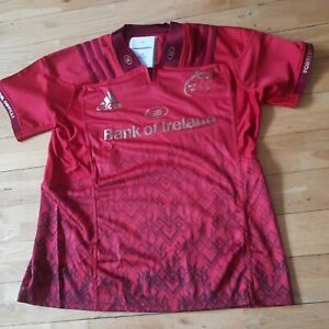 Details about Munster Ireland Adidas Rugby Player Issue Shirt Jersey Red GPS Slot 12 XXL New
