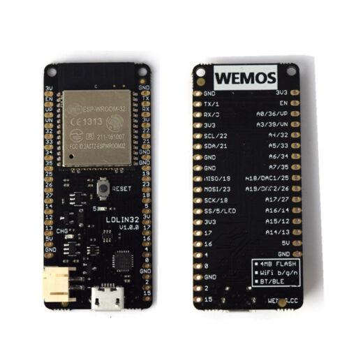 WEMOS Lolin32 V1.0.0 WIFI /& Bluetooth Card Based ESP-32 ESP-WROOM-32 4 MB Flash