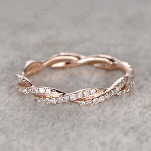 0-50-Ct-Round-Cut-Diamond-10k-Rose-Gold-Eternity-Wedding-Band-Ring-for-Women-039-s