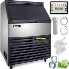 120kg Commercial Ice Maker Machine 265lbs 24hrs Air Cooled Cube Stainless Steel