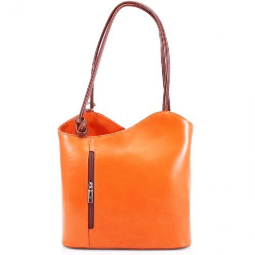 Fashion Women VeraPelle Genuine Italian Leather Shoulder Backpack Ladies Handbag