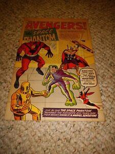 Avengers #2 1963 Low Grade Solid Copy 1st App Space Phantom Hulk Leaves Marvel🔥