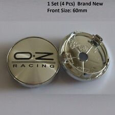 4 x OZ Racing 60mm Alloy Wheel Hub Centre Caps Cap , Brand New , Silver Black