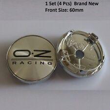 4 x OZ Racing 60mm Alloy Wheel Hub Centre Caps Cap , Brand New , Silver Black