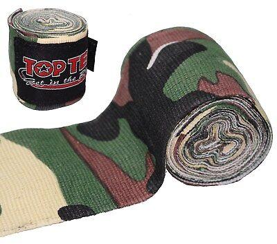 Camouflage-grün Kickboxen 250cm Muay Thai.MMA. Boxen Top Ten Box Bandagen
