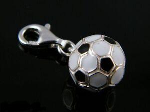 Eleganter-farbiger-Silberanhaenger-Charms-Fussball-1-Sterlingsilber-925