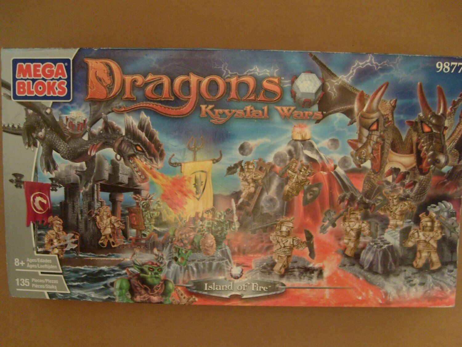 Mega Bloks 9877 Dragon Krystal Wars Island of Fire New Sealed