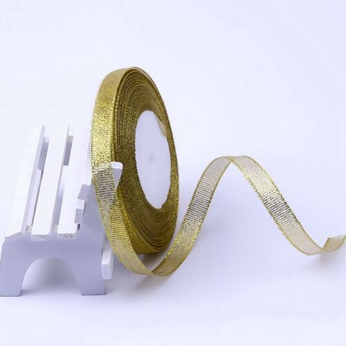 25YD Band 10mm 25mm Glitter Organza Multi Craft Hochzeit Supplies Fabric P@yLu
