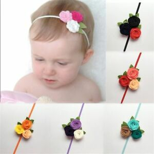 Girl-039-s-Fashion-Photo-Props-Elastic-Headwear-Baby-Headband-Rose-Flower-Hair-Band