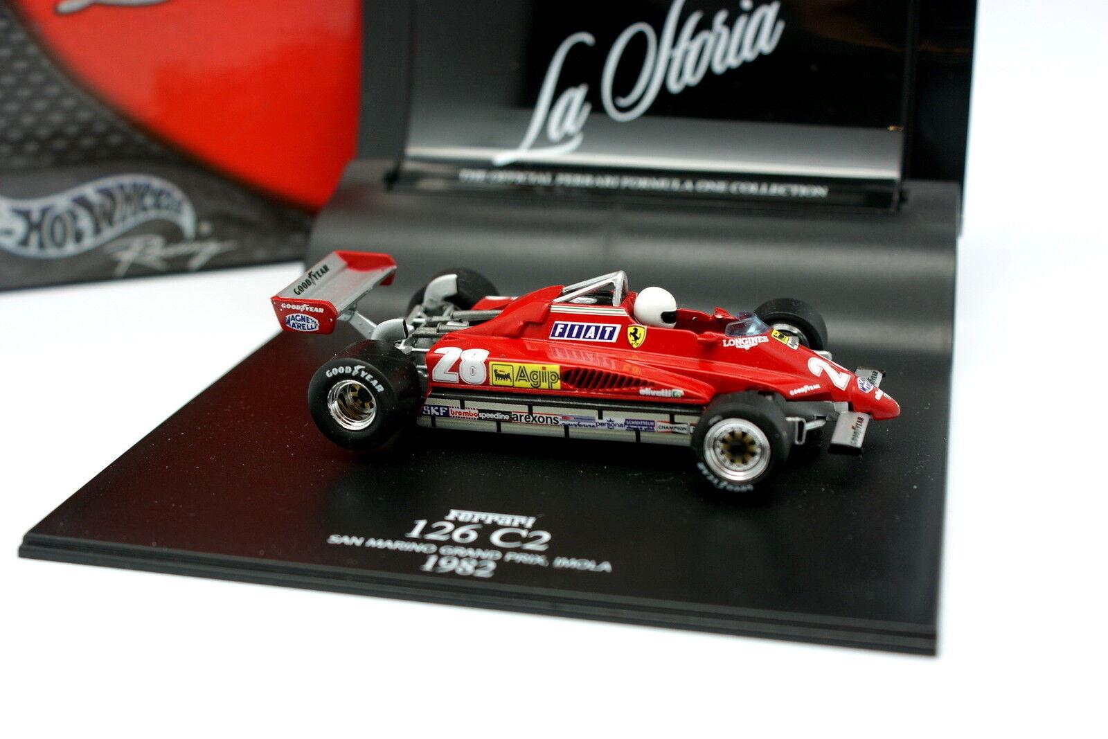 Hot Wheels La Storia 1 43 - F1 Ferrari 126 C2 San Marino GP Imola 1982