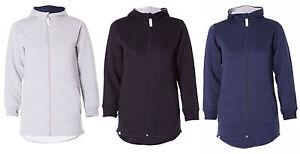 Girls-Unisex-kids-High-low-long-Zip-Hoodie-With-front-Pocket-Sweatshirt-Pullover