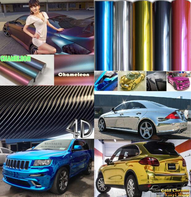3D 5D 6D Carbon Fiber Matt Chrome Chameleon Vinyl Wrap Car Home DIY Stickers