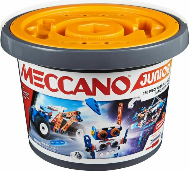 Meccano 6055102 Jeu de Construction seau Nouveau Baril pièce Multicolore Junior
