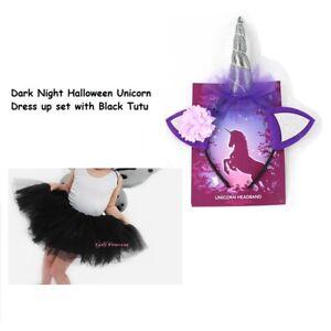 be6f43bab44dd Image is loading Child-Ladies-Night-Halloween-Black-Purple-Unicorn-Sparkle-