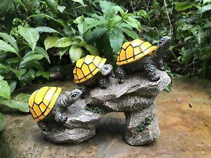 Image Is Loading Solar Turtles On Log Garden Light Outdoor Led