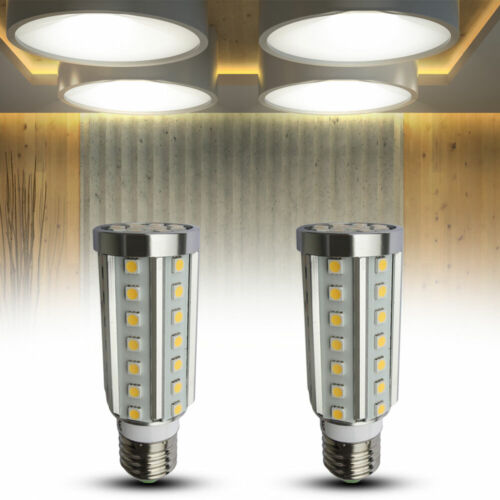 2er Set 9 Watt LED E27 Strahler Leuchtmittel Lampe 360° Zylinder 4000 K EEK A+