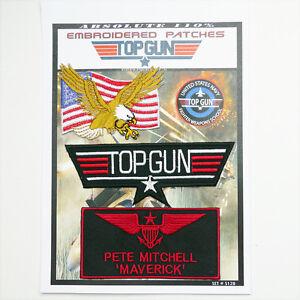 TOP-GUN-034-MAVERICK-034-FANCY-DRESS-Iron-On-Patch-Super-Set-128-FREE-POSTAGE