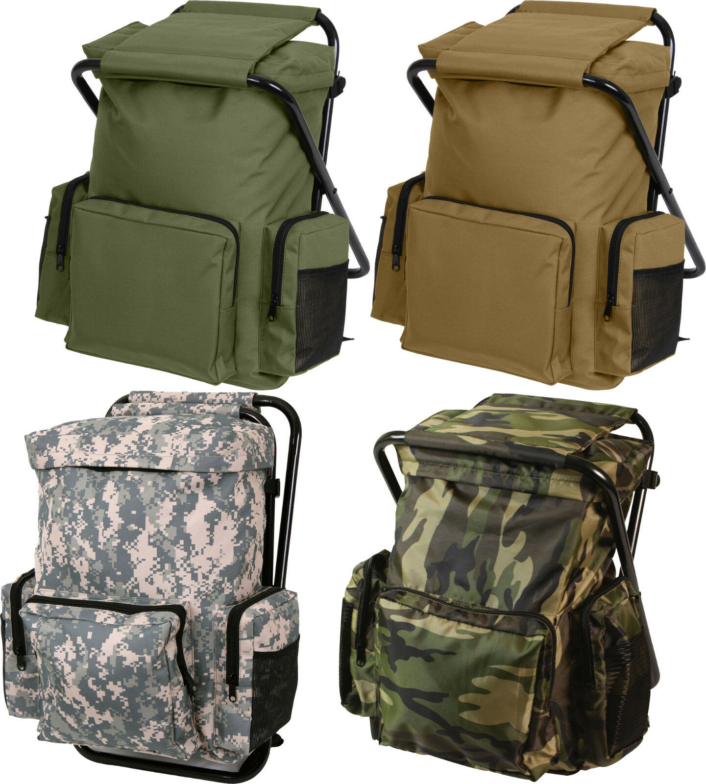 Backpack Amp Stool Combo Camping Outdoor Pack Ebay
