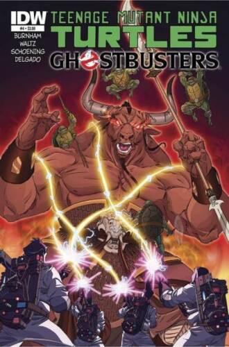 GHOSTBUSTERS TEENAGE MUTANT NINJA TURTLES #4 REGULAR COVER NEAR MINT 2014 IDW