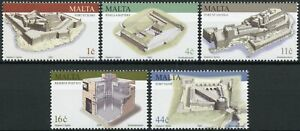Malta Military Architecture Stamps 2003 MNH Forts Battery Reserve Post 5v Set