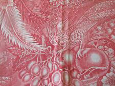Antique Rare Early 19thc Red Bird Fruit Toile Pelmet Fabric Piece ~ Mulhouse