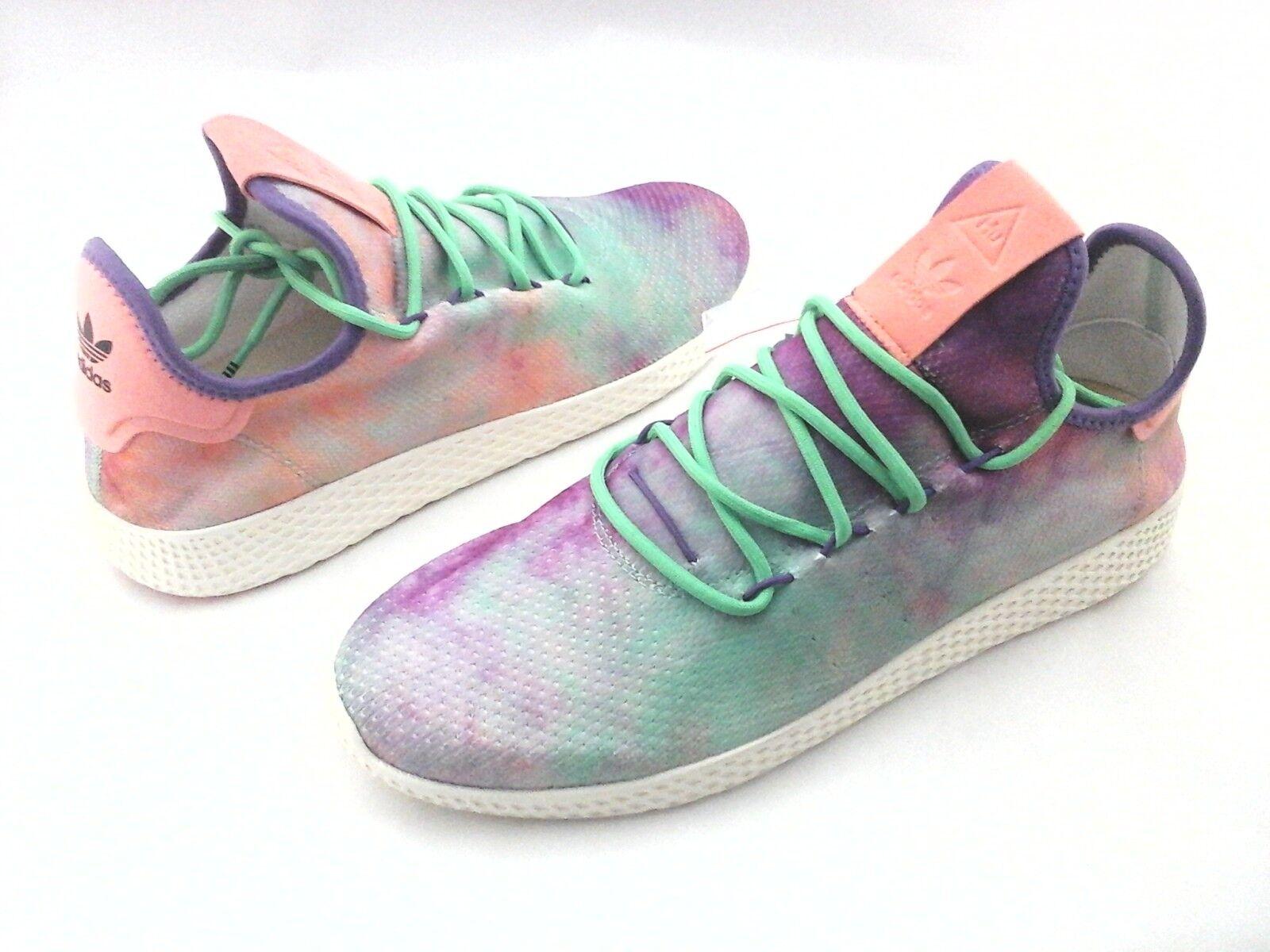 Adidas pharrell williams hu lila tennis holi krawatte farbstoff schuhe ac7366 uns 12 / 46 2 / 3
