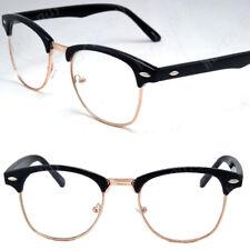 New Clear Lens Glasses Mens Women Nerd Horn Frame Fashion Eyewear Designer Retro