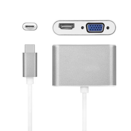 Type C USB 3.1 to USB-C 4K HDMI RJ45 Port USB 3.0 Adapter 2 in 1 Hub For Macbook