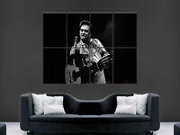 JOHNNY CASH MUSIC SINGER ACTOR LEGEND  ART WALL LARGE IMAGE GIANT POSTER