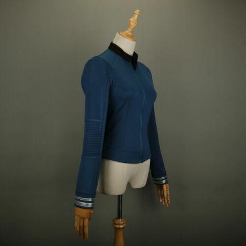 Star Trek Discovery 2 Science Commander Female Blue Top Shirt Uniform Pin Set
