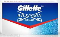 200x Gillette Wilkinson Sword Razor Blades Double Edge Safety Razor Blade