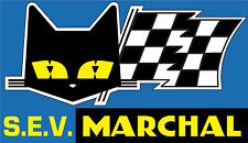 MotorSport Car Vinyl Sticker Sev Marchal Cat & Flag Rally Sport Sponsor Decal